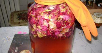 Как сделать шампанское из лепестков роз в домашних условиях