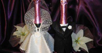 Как украсить бутылку шампанского в день рождения или на свадьбу